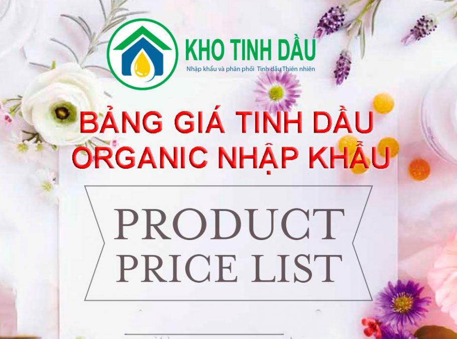 tinh dầu organic nhập khẩu